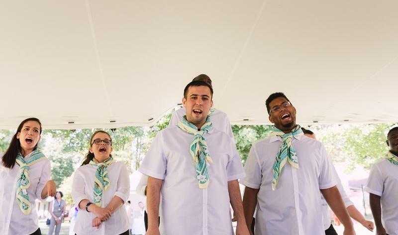 Les chanteurs de la chorale du Foyer Saint-Louis