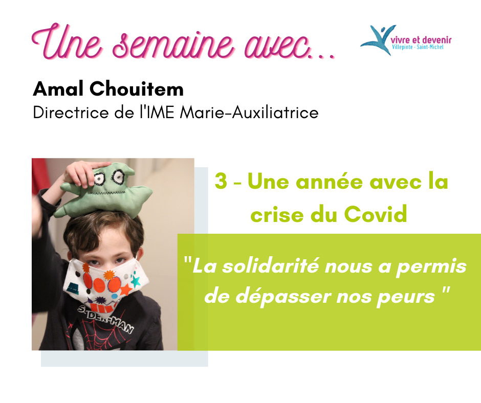 Photo de couverture une semaine avec Amal Chouitem, une année avec la crise Covid