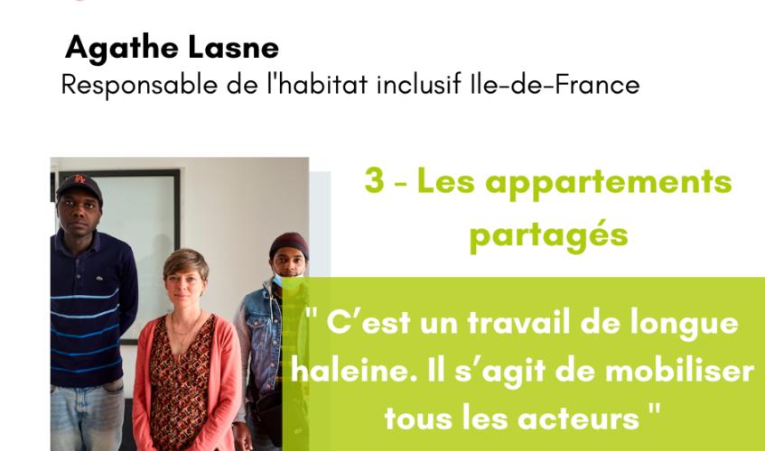 Agathe Lasne et deux résidents